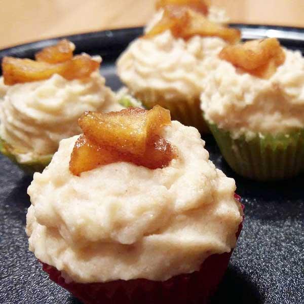 Bratapfel-Cupcakes Muffins