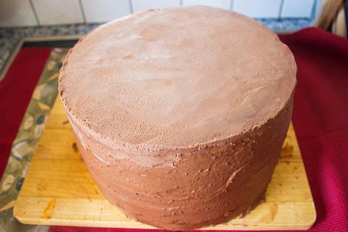 Torte eindecken mit Ganache | Conny's Küchlein | Motivtorten