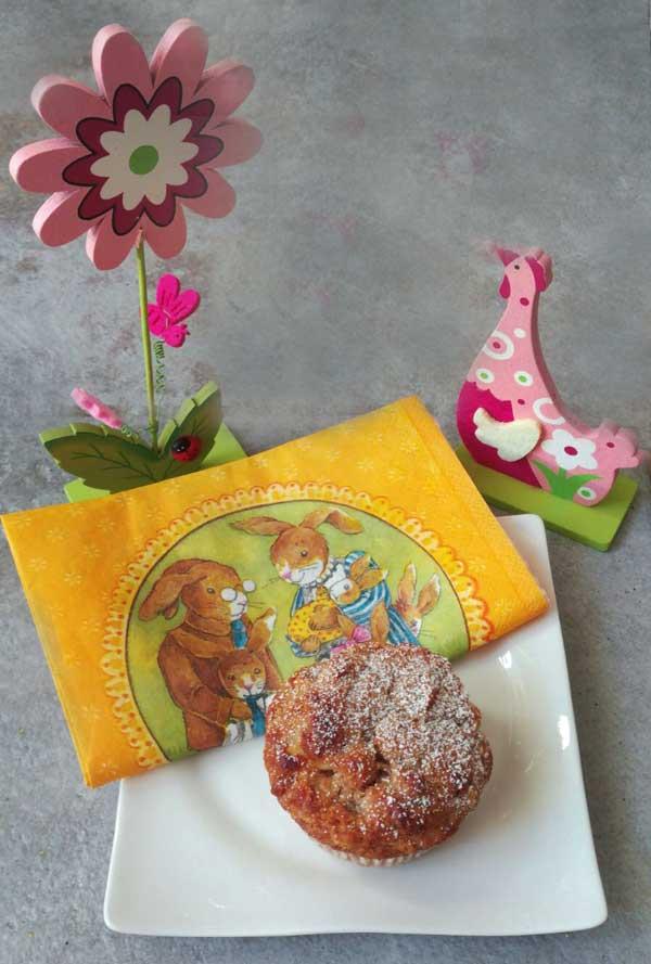 Serviervorschlag Apfel-Bananen Muffins