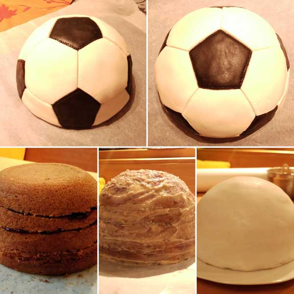 Fußballtorte Step-by-Step-Fußball