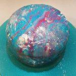 Mirror Glaze Spiegelglasur Galaxy Cake