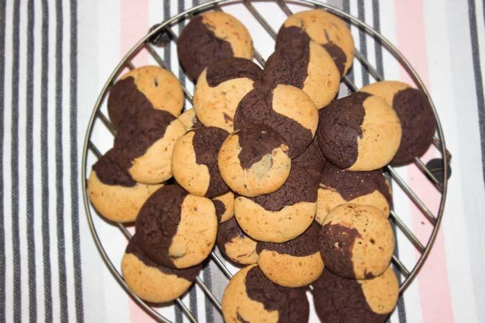 Erdnussbutter Schoko Kekse PeanutButter Cookies Conny's Küchlein
