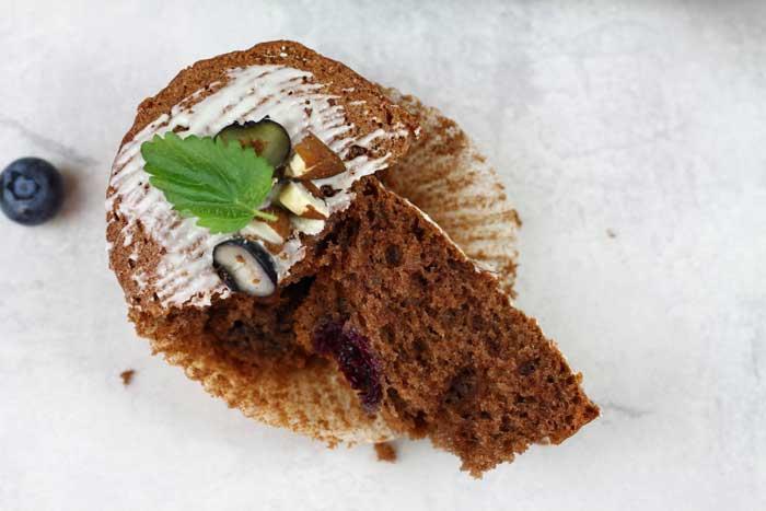 Heidelbeer-Rotweinmuffins Schokolade Conny's-Küchlein