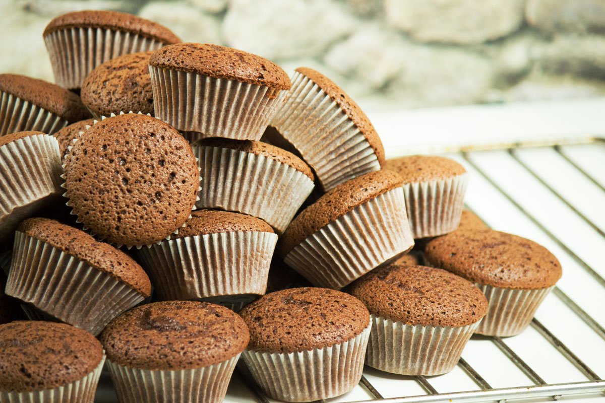 Ölkuchen Cupcakes mit Parisercreme | Schokolade | Conny's Küchlein