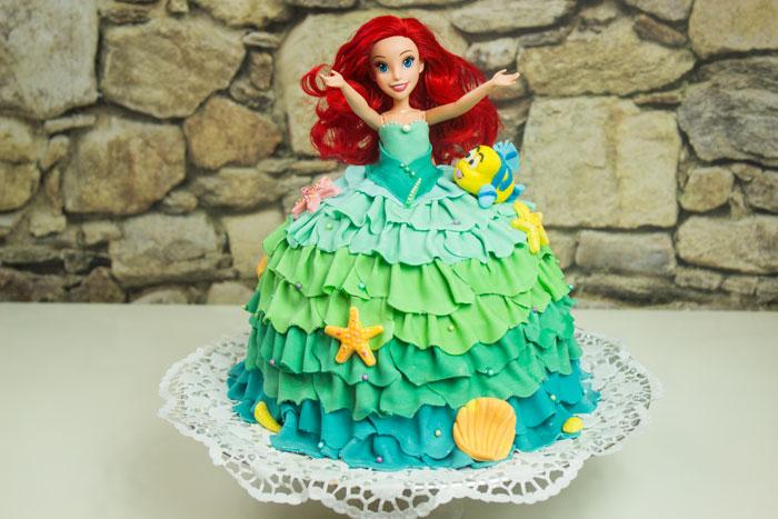 Arielle Meerjungfrau Kuchen | Prinzessin Torte Gugelhupf | Unterwasserwelt | Fabius
