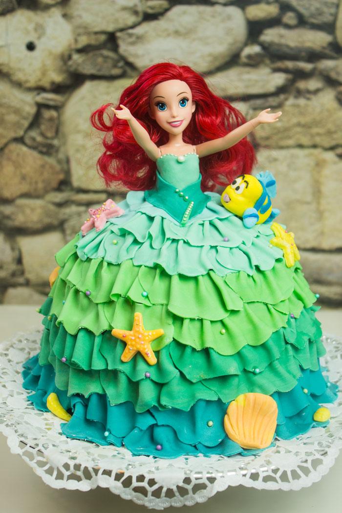 Arielle Meerjungfrau Kuchen | Prinzessin-Gugelhupf Torte| Unterwasserwelt | Fabius