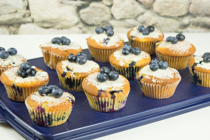 Heidelbeer Blueberry Sauerrahm Topfen Quark Muffins | Conny's Küchlein