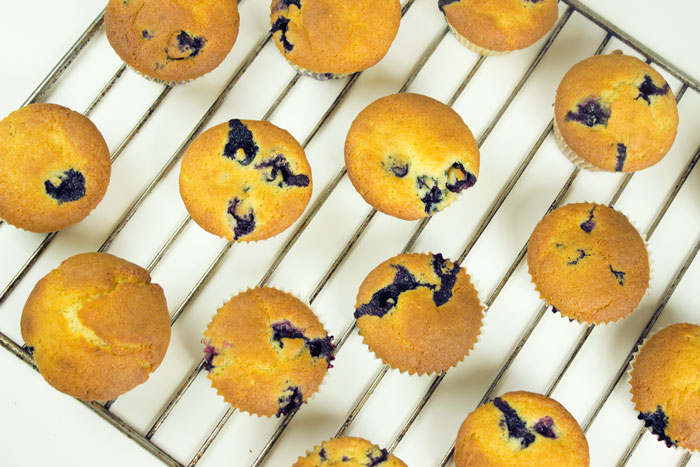 Heidelbeer-Sauerrahm Muffins Blueberry Topfen Quark | Conny's Küchlein