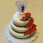 Hochzeitstorte | WeddingCake | Fondantrosen | Conny's Küchlein