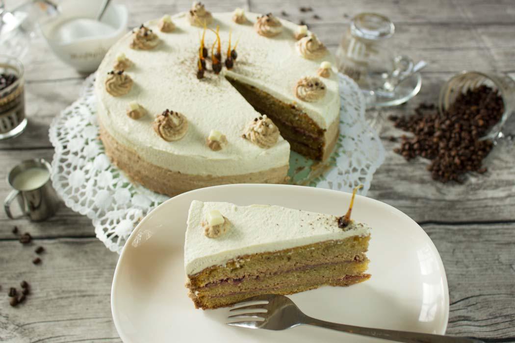 Nougat-Latte-Torte Ombrétorte Conny's Küchlein