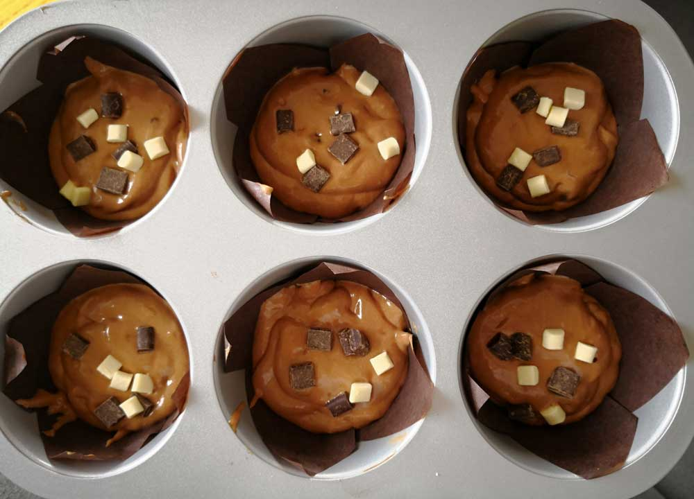 Chocolate Chip Muffins riesen-Muffins-Conny's-Küchlein