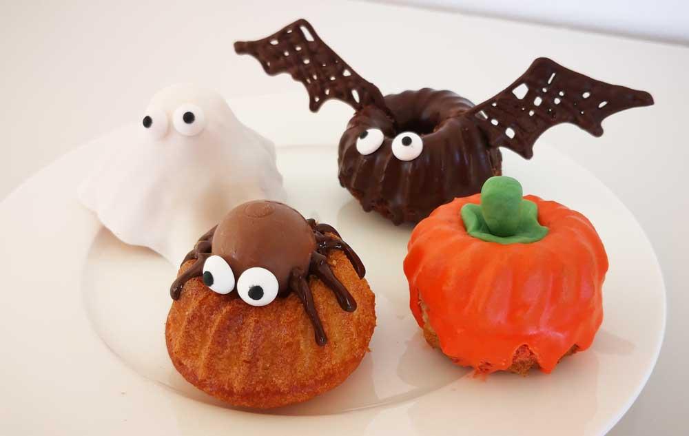 Gugelhupf im Halloween-Stil