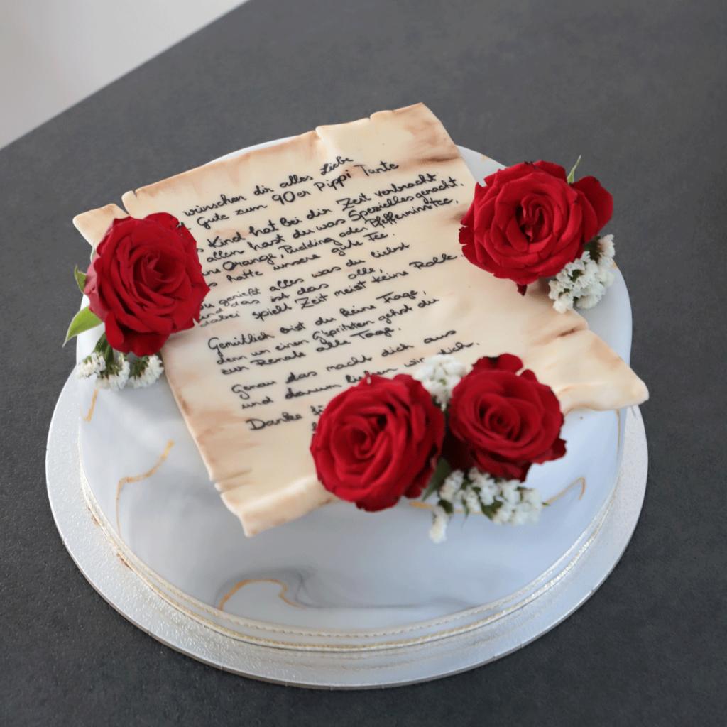 Rosen-Brief-Torte