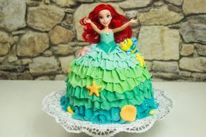 Arielle-Meerjungfrau-Kuchen-Prinzessin-Torte-Gugelhupf